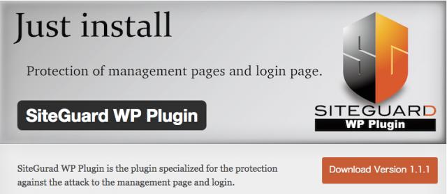 SiteGuard wp login